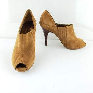 Guess Novae Golden Brown Suede Leather Mules